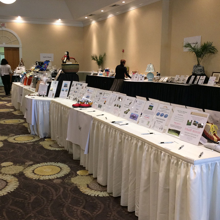 Blooming for a cause 2017 silent auction tables