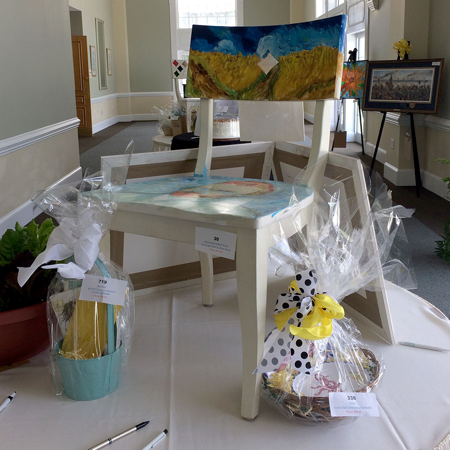 Blooming for a cause 2017 Van Gogh Chair
