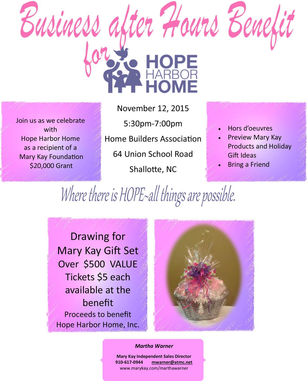 Hope-harbor-Mary-Kay-invite